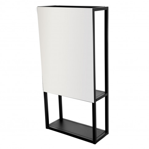 Casa Spa Wall Mirror & Storage Unit, Black