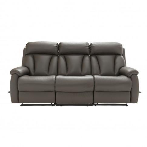 La-Z-Boy Georgina 3 Seater Manual Recliner Leather Sofa