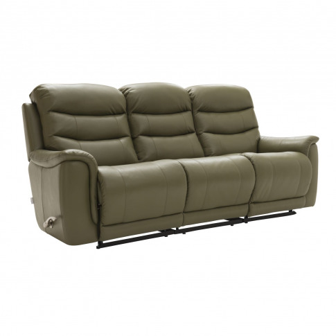 La-Z-Boy Sheridan 3 Seater Manual Recliner Leather Sofa