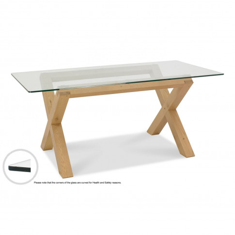 Casa Toledo 6 Seater Glass Top Dining Table
