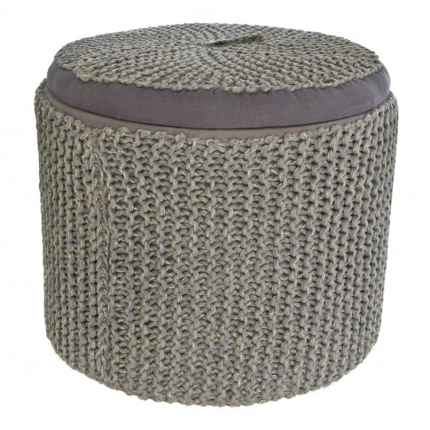 Casa Shoe Ottoman, Metalic Grey