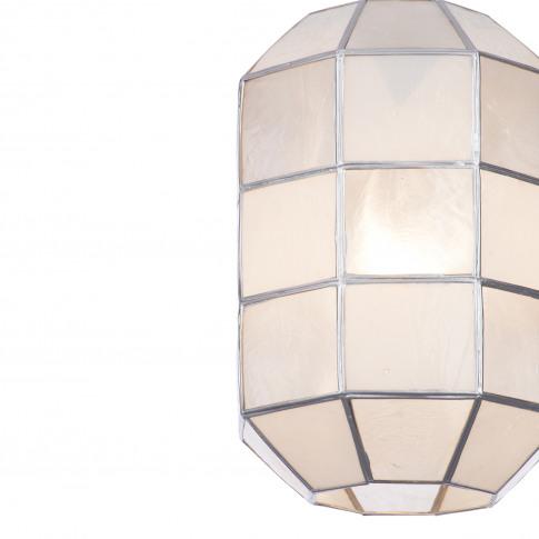 Casa Geo Capiz Lamp Shade, Natural/White