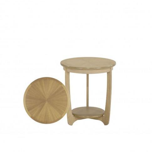 Nathan Shades Oak Large Lamp Table