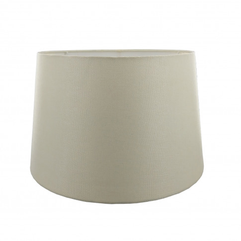"14"" Carol Empire Linen Lamp Shade, Cream"