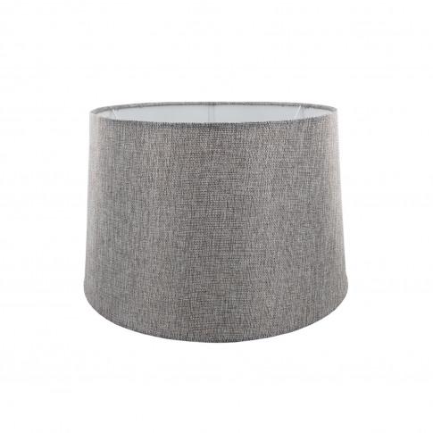 "14"" Carol Empire Linen Lamp Shade, Grey"