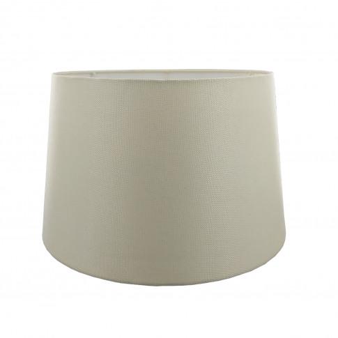 "16"" Carol Empire Linen Lamp Shade, Cream"