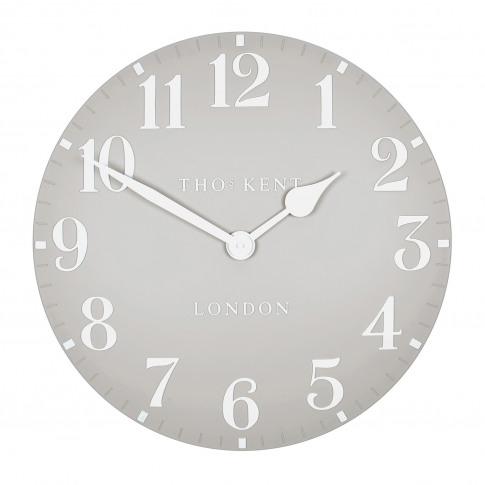 "Thomas Kent 20"" Arabic Wall Clock, Dove Grey"