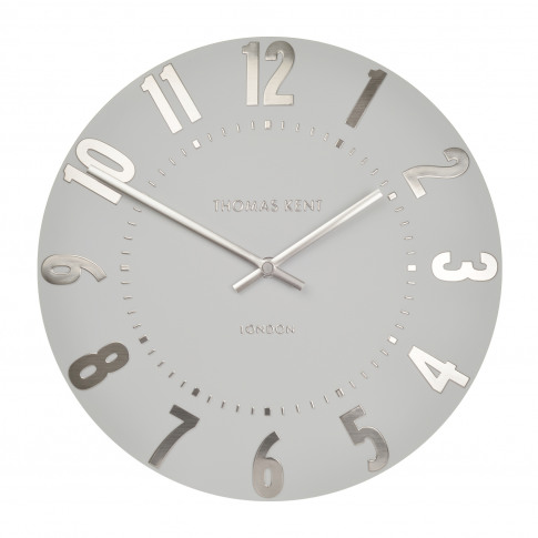 "Thomas Kent 20"" Mulberry Wall Clock, Grey"