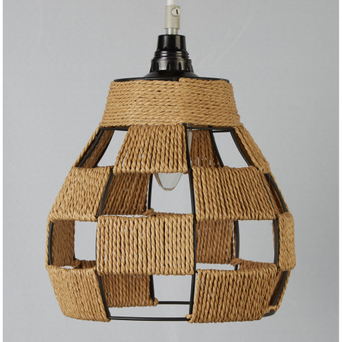 Casa Woven Ceiling Lamp Shade, Brown