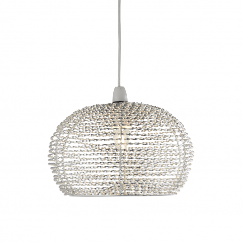 Casa Large Ceiling  Lamp Shade, Silver