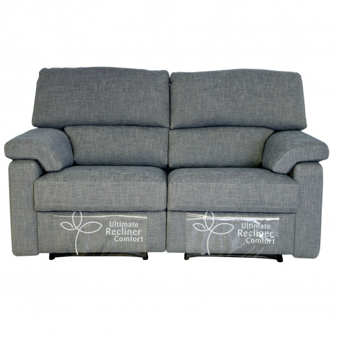 Casa Henry 2 Seater Double Manual Recliner Fabric Sofa