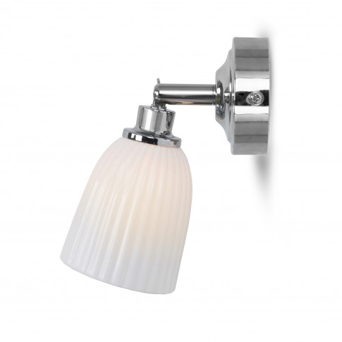Garden Trading Alma Bathroom Spotlight, Chrome/Ceramic