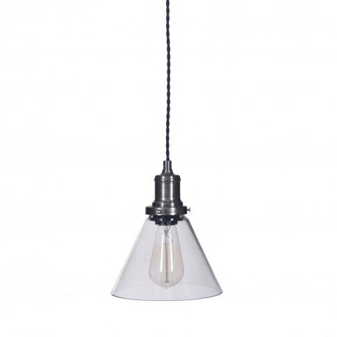 Garden Trading Hoxton Cone Pendant Light, Glass