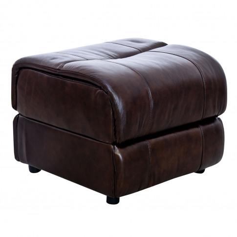Casa Tyler Leather Footstool