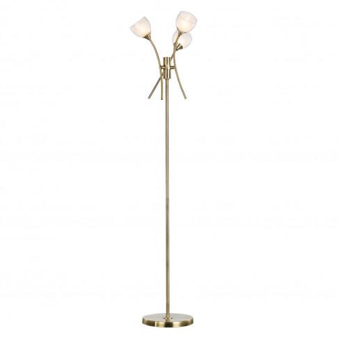 Casa Twig 3 Light Floor Lamp, Antique Brass