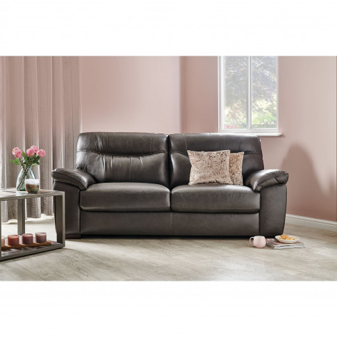Casa Helsinki 3 Seater Leather Sofa