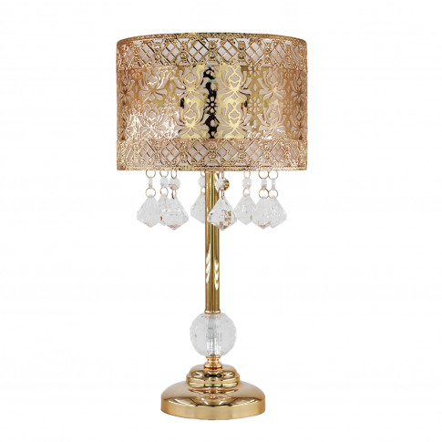 Seattle Rose Table Lamp, French Gold