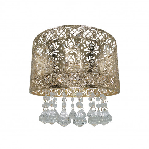 Seattle Rose Ceiling Lamp Shade, French Gold