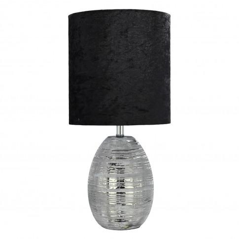 Girona Table Lamp, Silver/Black
