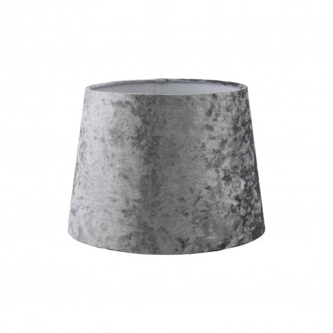 "10"" Velvet Empire Lamp Shade, Silver"