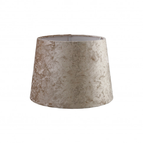 "10"" Velvet Empire Lamp Shade, Mink"