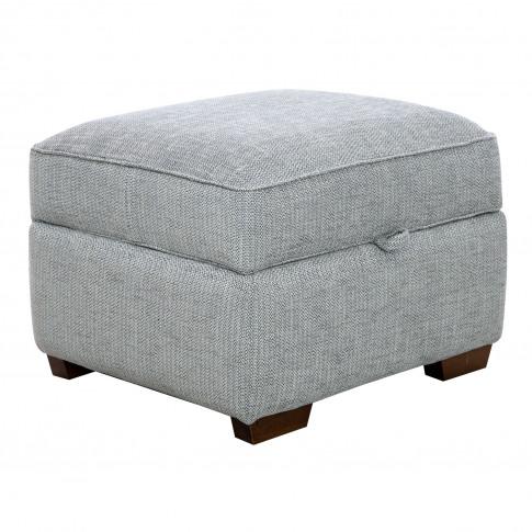 Casa Willow Storage Fabric Footstool