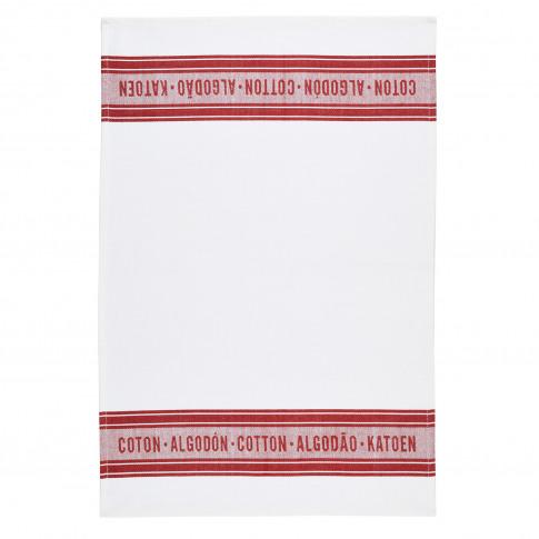 2 Pack Jacquard Red Tea Towels