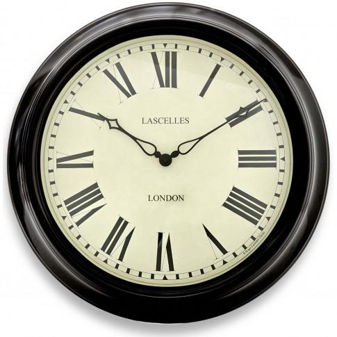 Brookpace Lascelles Station Wall Clock, Black
