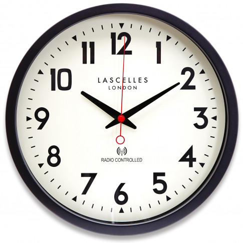 Brookpace Lascelles Radio Controlled Wall Clock, Black