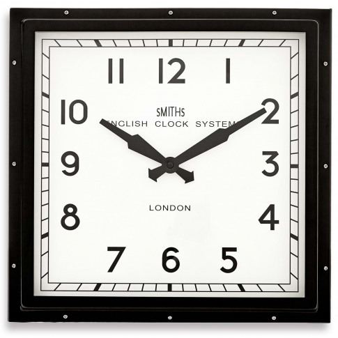 Brookpace Lascelles Smiths Square Wall Clock, Black