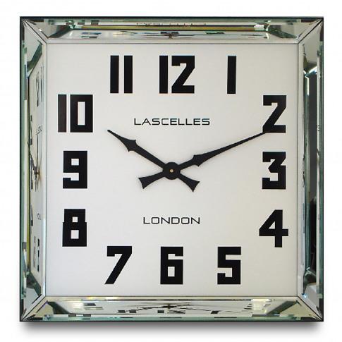 Brookpace Lascelles Manhattan Mirror Square Wall Clock