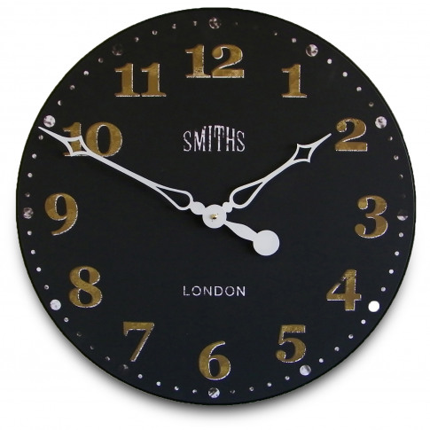 Brookpace Lascelles Smiths Wall Clock , Large, Black