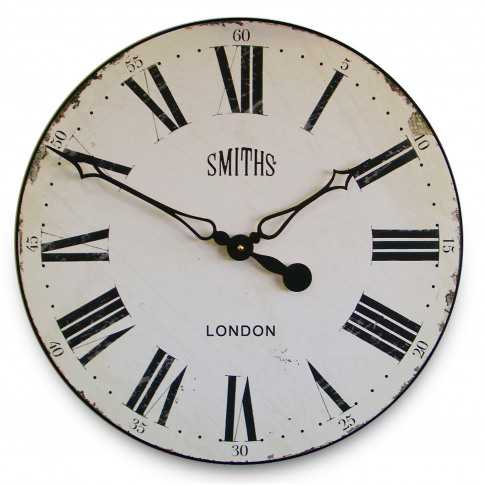 Brookpace Lascelles Smiths Wall Clock, White