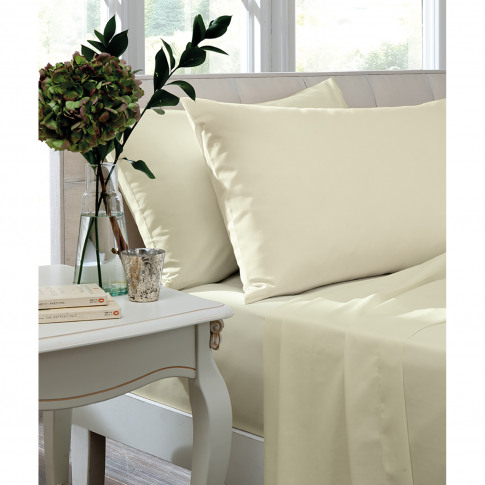 Turner Bianca Fitted Sheet King, Ivory