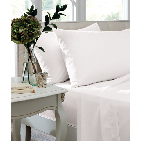 Turner Bianca Fitted Sheet Single, White
