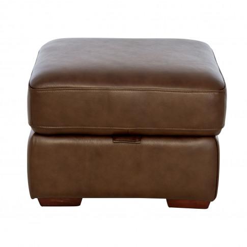Casa Artemis Storage Leather Footstool