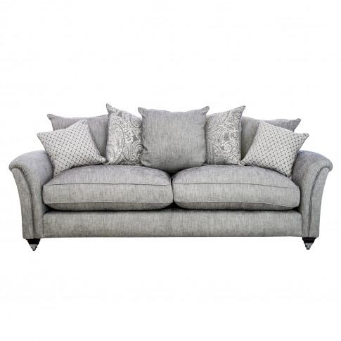 Parker Knoll Devonshire Pillow Back Grand Fabric Sofa