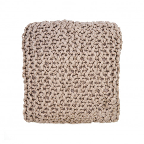 Casa Basket Weave Knit Cushion, Pink