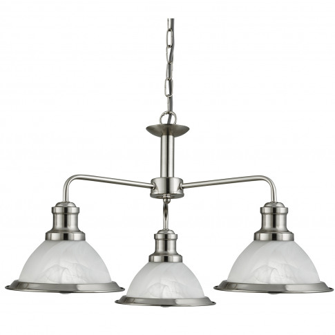 Searchlight  Bistro 3 Ceiling Light, Satin Silver