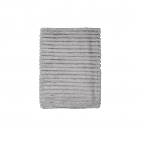 Mistral Bold Stripes Flannel Throw, Grey