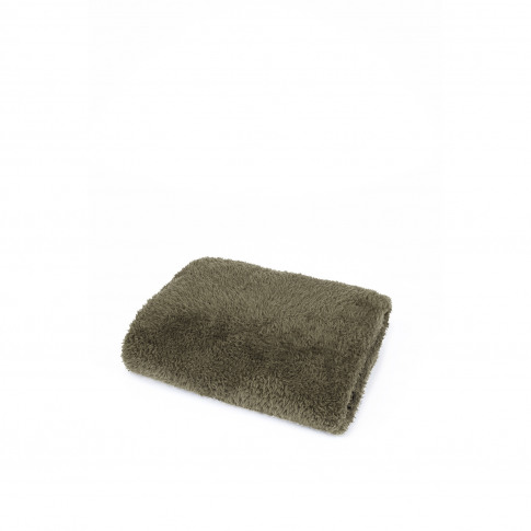 Mistral Solid Green Sherpa Throw, Green