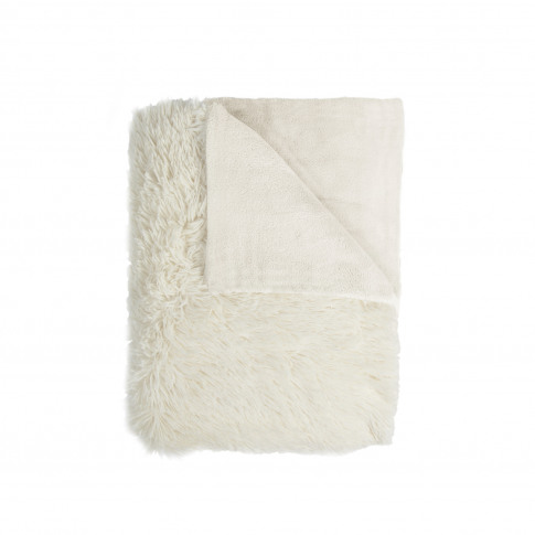 Mistral Shaggy Fuzzy Throw, Beige