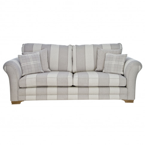 Casa Georgia 4 Seater Fabric Sofa, Large