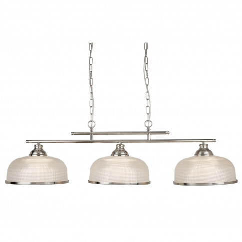 Searchlight  Bistro 2 3 Light Ceiling Bar, Satin Silver
