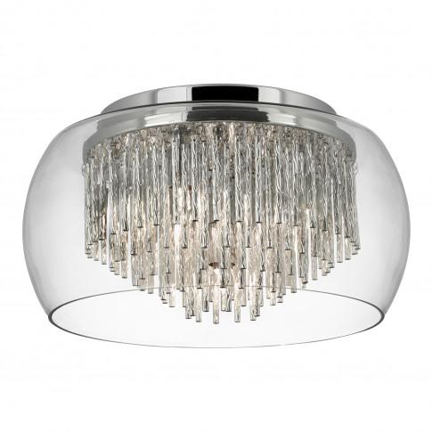 Searchlight  Curva 4 Light Flush, Glass