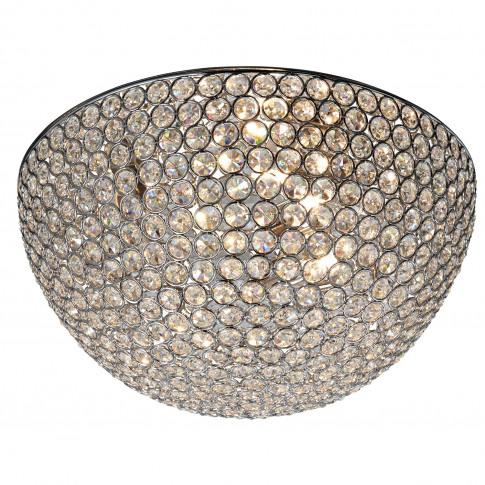 Searchlight  Chantilly 3 Flush Light Dome, Chrome