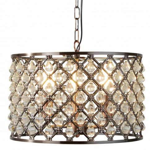 Searchlight Marquise 3 Light Pendant, Antique Copper