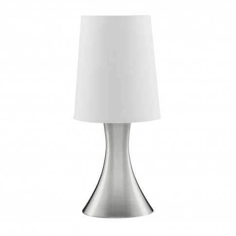 Searchlight Touch Table Lamp, Silver/White