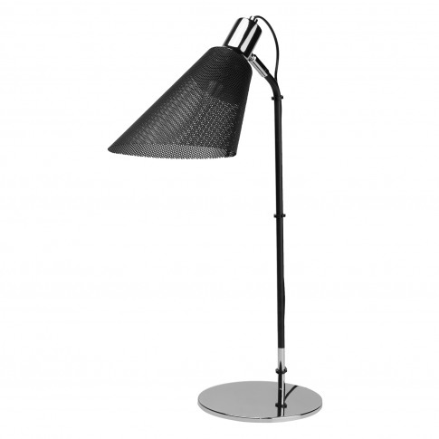 Searchlight Plexus Table Lamp, Black/Chrome