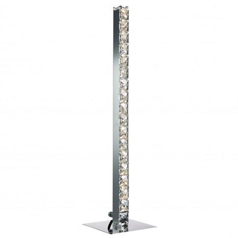Searchlight Clover Led Table Lamp, Chrome/Clear